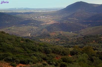 Vista hacia el sur valle de La Lapa y Zafra al fondo